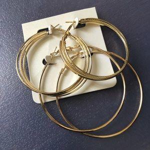 NWT Gold Hoop Earrings